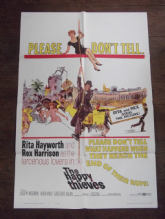 Happy Thieves, Movie Poster, Rita Hayworth, Rex Harrison '62